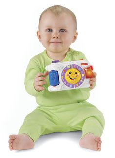 Fisher-Price Laugh & Learn Learning Camera. Entertain baby with fun sounds and lights. Perfect size to take along wherever you go!