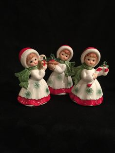 Vintage Christmas Girl Figurines