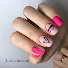 Have you discovered your nails lack of some modern nail art? Yes, recently, many girls personalize their nails with lovely … Work Nails, Fun Nails, Nagellack Trends, Heart Nails, Heart Nail Art, Manicure E Pedicure, Dream Nails, Cute Acrylic Nails, Nagel Gel