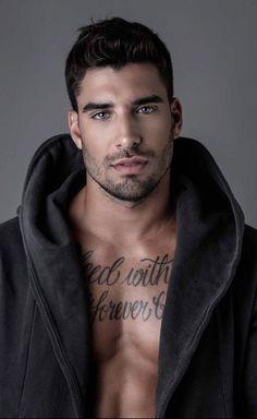 Beautiful Men Faces, Beautiful Boys, Gorgeous Men, Cute White Boys, Inked Men, Handsome Faces, Moustaches, Book Boyfriends, Male Face