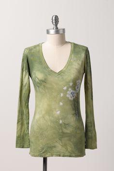 Zavella bamboo organic green make a wish long sleeve