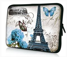 LAVOVO Paris Town Eiffel Tower Luggage Cover Suitcase Protector Carry On Covers