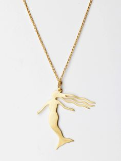 NIDA New York Gold Dipped Humming Bird Necklace Golden Tone Humming Bird Pendant