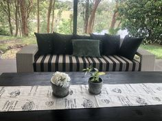 "Cheryl said: thank you cushion factory, good advise, excellent workmanship, efficient service just made it ""So cushy"" for me. Sunbrella Outdoor Cushions, Patio Cushions, Outdoor Sofa, Sunbrella Fabric, Outdoor Furniture, Cushion Inspiration, Outdoor Doors, Replacement Cushions, Cushion Covers"