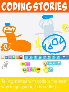 Teach your kids to code through creative story telling . a brilliant way to get pre-school , kindergarten and elementary kids hooked on coding . Teaching Kids To Code, Kids Learning, Teaching Biology, Learning Apps, Computer Coding, Computer Science, Computer Lab, Computer Lessons, Preschool Science