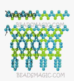 Free pattern for necklace CHARLY | Beads Magic. Use: seed beads 11/0. Page 2 of 2