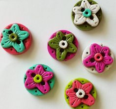 Button Antiqued Rustic Flower stained handmade by digitsdesigns