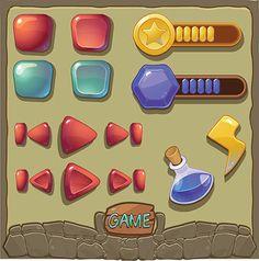 ui icon 游戏UI 设计素材矢量...