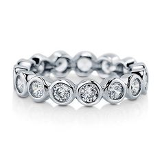 BERRICLE-Sterling-Silver-1-54-Carat-Round-CZ-Anniversary-Eternity-Band-Ring