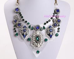 Bubble Necklace Statement Necklace Vintage by AdaFashionJewelry, $60.00