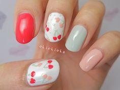 Cherries Nail Art!   chichicho~ nail art addicts