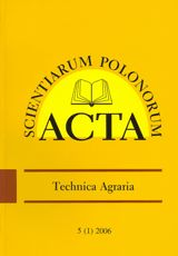 Acta Scientiarum Polonorum - seria Technica Agraria  http://wydawnictwo.up.lublin.pl/acta.htm
