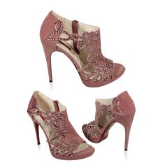 Designer Shoes for Women | Paciotti Women Designer Shoes Diamond Studded Rose (CPW570)