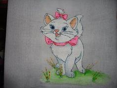 Pintura em tecido gata marie - Fralda de pano - YouTube
