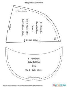 Image Result For Baby Baseball Cap Pattern Scrub Hat Patterns Cap Patterns Sewing Hats