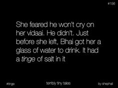 The salt is bcoz of the tears that came from her brother. Bro And Sis Quotes, Brother Sister Love Quotes, True Love Quotes, Story Quotes, Fact Quotes, Words Quotes, Tiny Stories, Short Stories, Heart Touching Story