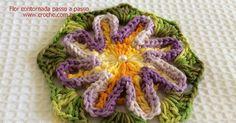 Flor contornada