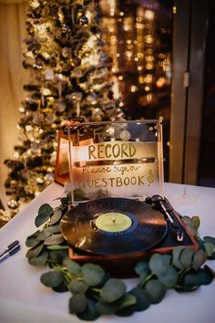 Record Guest Book Kilmore Country House Wedding Crazy Happy Love #guestbook #wedding