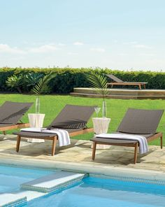 Supremely comfortable with or without a cushion, our Santino Chaises are designed to withstand searing sun and harsh weather season after season. All-weather resin wicker is wrapped around a powdercoated aluminum frame that sits atop a base of finely sanded teak.