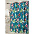 Kiki Fabric Shower Curtain and Hook Set | Overstock.com Shopping - The Best Deals on Shower Curtains