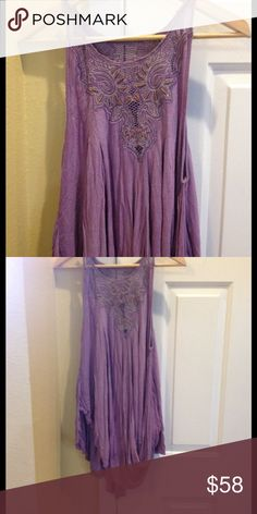Free People Professionally Dyed Aiden Tunic Free People Professionally Dyed Aiden Asymmetrical Tunic/Dress, size small could fit a m, never worn only removed tags to do the dye process. Free People Dresses Asymmetrical