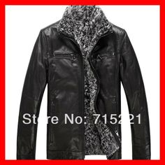 2014 Winter hunting clothes slim plus size bosco fur clothing short design real leather jacket men-inLeather & Suede from Apparel & Accessor...