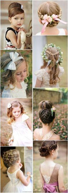 cute little girl hairstyles-updos, braids, waterfall / http://www.deerpearlflowers.com/super-cute-little-girl-hairstyles-for-wedding/