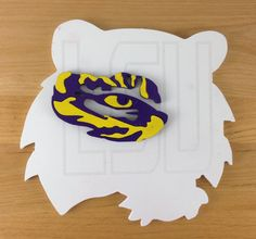 """LSU  12""""x12"""" wall ornament $35.99 Laser Engraved Gifts, Corporate Awards, Wall Ornaments, Client Gifts, Lsu, My Dad, Laser Engraving, Dads, Fathers"""