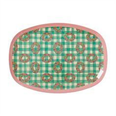 Rice Rektangulær Melamin Tallerken med Vichy Print