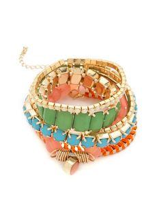 Adia Kibur Beaded Bracelet Set, $45; shopbop.com #bracelets #budget