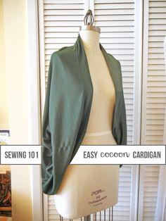 Sew your own cozy cocoon-style cardigan in your favorite pattern or print for winter with this in-depth tutorial. No complicated pattern needed!