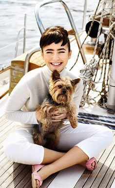 Lily Collins ♥ reminds me of audrey hepburn!