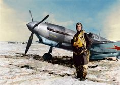 Soviet-aces-WW2-Hero-of-the-Soviet-Union-Kulagin-Andrey-Mihailovich-standing-in-front-of-the-fighter-LaGG-3-series 66.jpg
