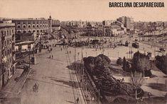 Plaça Espanya. Principis segle XX. Postal. Publicada per Giacomo Alessandro