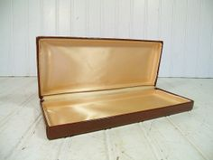 Antique OxBlood Leatherette Jewelry Box  Vintage by DivineOrders, $23.00