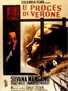 """Le Procès de Verone"" de Carlo Lizzani avec Silvana Mangano, Frank Wolf, Françoise Prevost. Italie. 1963."