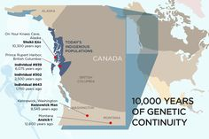 El ADN de los individuos que se encuentran en el sureste de Alaska, la costa de Columbia Británica, el estado de Washington y Montana son descendientes de los de hace al menos 10.300 años. U. Illinois