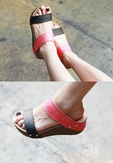 Today's Hot Pick :Two Tone Elevated Outdoor Sandals http://fashionstylep.com/SFSELFAA0014960/min3111enn/out The perfect buddy for your adventure strolls. These sandals are both stylish and comfortable - with thick two-strap and two-tone design, and elevated soles. Goes strikingly well with a casual wear.