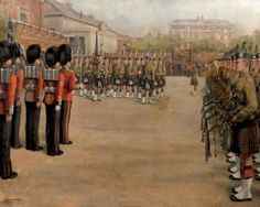 The 2nd Camerons Relieving the 2nd Scots Guards at St James's Palace, whilst Undertaking Public Duties in 1934