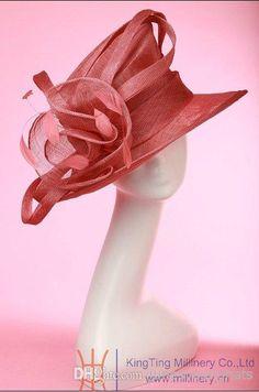 ladies hat for church women sinamay hat top hat chapeau hat sun-shading hat good quality beautiful new 6pcs/lot free EMS shipping