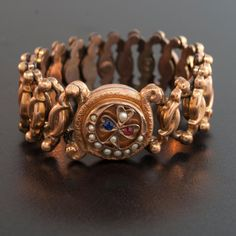 Amber Bracelet, Pearl Bracelet, Bangle Bracelets, Antique Bracelets, Antique Jewelry, Sapphire Jewelry, Ruby Sapphire, Gold Bangles Design, Love Charms