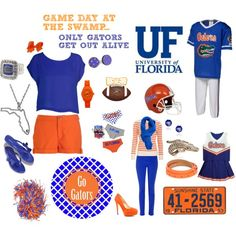 """""""GET UP & GO GATORS"""" by meagandougherty on Polyvore"""