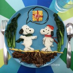 Snoopy lunch art