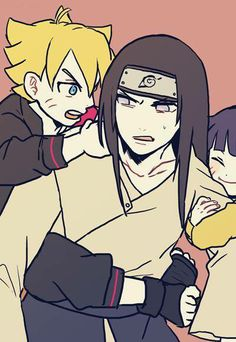 Neji, Bolt, and Himawari