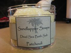 You love the natural, the pure, the best of the Earth. That's why this product is just for you. Dead Sea Bath Salts and the scent of patchouli. Lie in your tub and soak in the healing minerals of the Dead Sea. $7.00 (http://www.sandlappersoaps.com/patchouli-scented-dead-sea-bath-salt/)