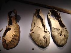 Roman shoes from the Leiden Museum. Nice upper decoration.