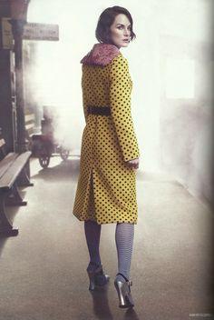Michelle Dockery photographed by David Slijper for Harper's Bazaar UK, August 2013
