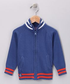 Royal Blue Zip-Up Sweater from Ciao Marco on #zulily