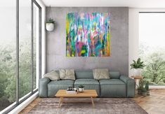 Freezing kiss – large colorful abstract Large Artwork, Extra Large Wall Art, Large Painting, Texture Painting, Acrylic Painting Canvas, Knife Painting, Abstract Wall Art, Abstract Landscape, Abstract Paintings