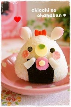 うさぎちゃんおにぎり Soooo adorable that I would'nt want to eat it<3